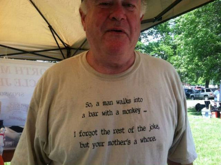 11 Seniors Wearing Funny Shirts - That escalated quickly.