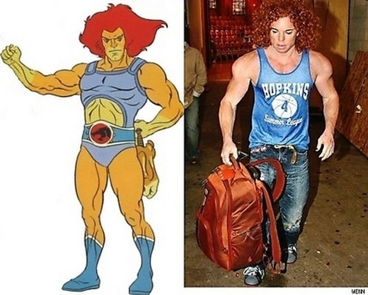 25 People That Look Like Cartoon Characters In Real Life - Lion-O of ThunderCats.