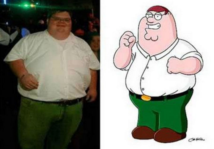25 People That Look Like Cartoon Characters In Real Life - Peter Griffin of Family Guy.