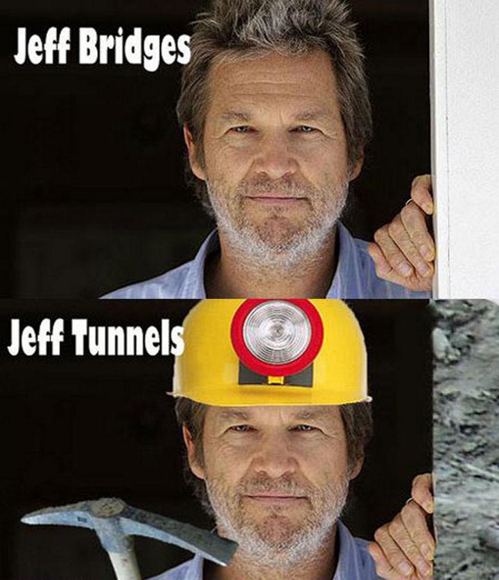 55 Hilariously Funny Celebrity Name Puns - Jeff Bridges.
