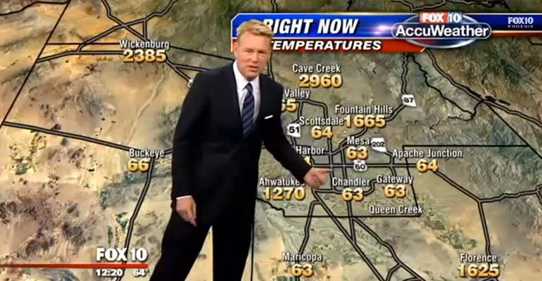 Fox Weather Map Had a Glitch but Weatherman Stays Classy.
