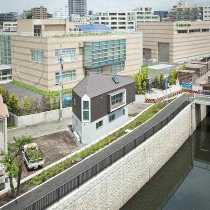 Small House Design in Japan - From a bird's eye view, you never would imagine how much room this home provides.