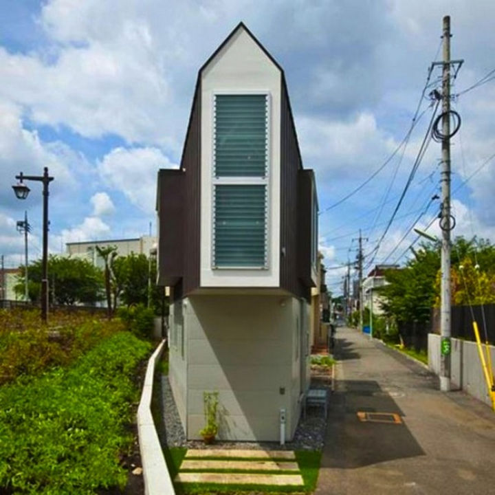 Small House Design in Japan - But from the inside, you won't believe the amount of living space there is.
