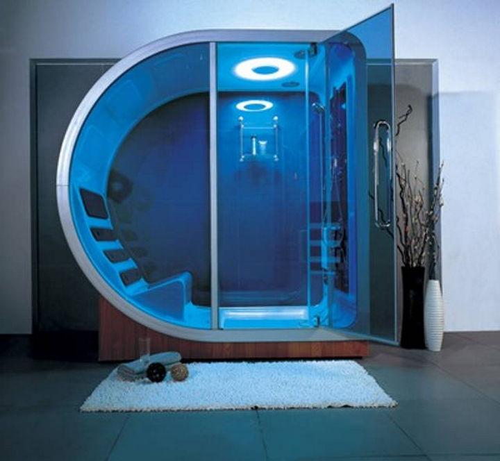13 Beautiful Showers - Futuristic shower.