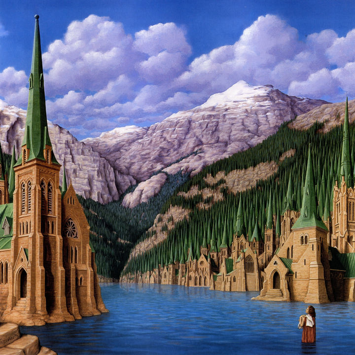 Rob Gonsalves Paintings - Wilderness Gothic.
