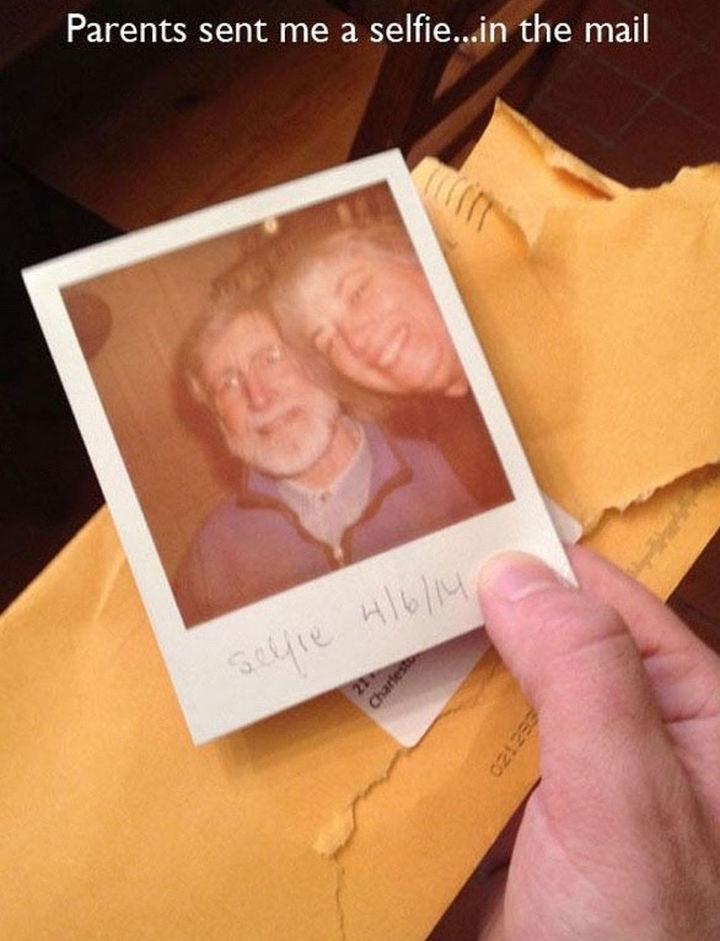 33 Trolling Parents - Parents sent me a selfie...in the mail.