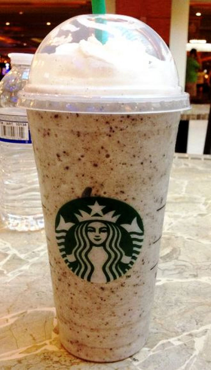 39 Starbucks Secret Menu Drinks - Banana Chocolate Chip Frappuccino recipe.