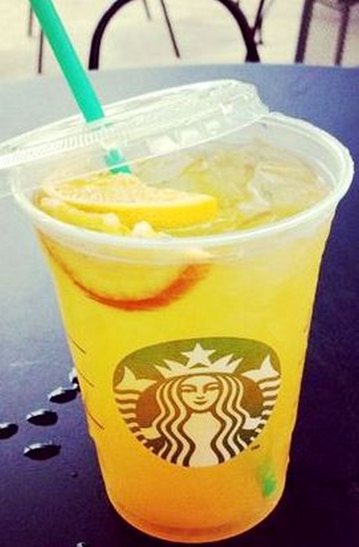 39 Starbucks Secret Menu Drinks - Peach Ring Tea recipe.