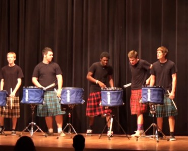 Hot Scots Drum Line at Lake Howell High School Talent Show.