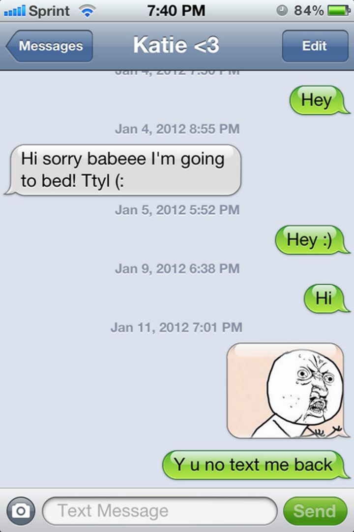 15 People With Ignored Text Messages When People Don't Text Back - Annoyed? The meme says it all...