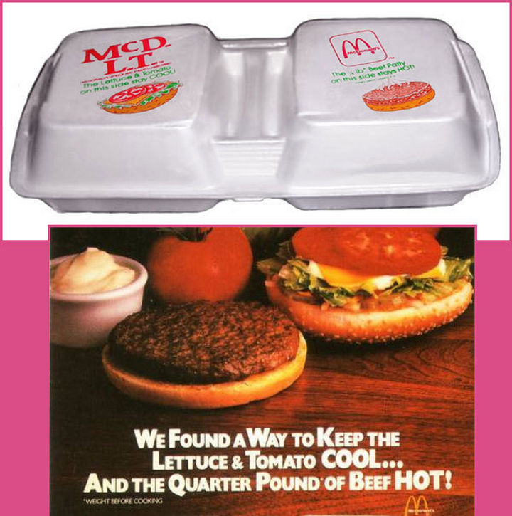 27 Failed Products - McDonald's McDLT.