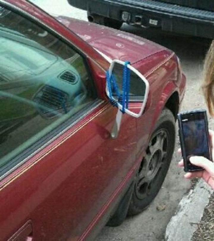 51 Crazy Life Hacks - Objects in mirror are the same as they appear.