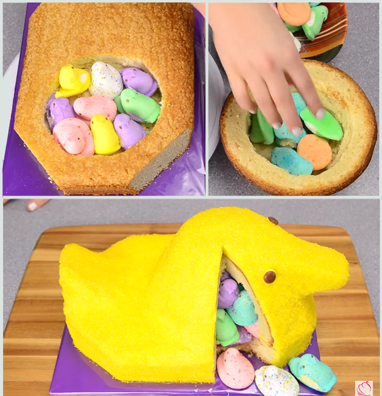 How to makes a giant Peeps cake.
