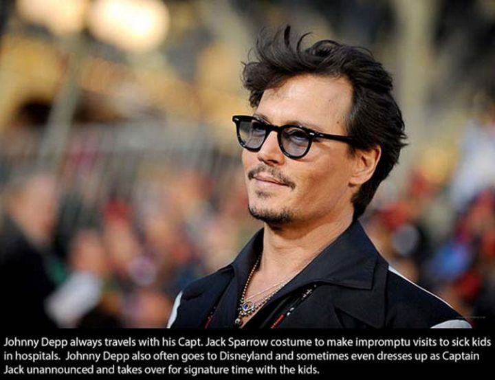17 Celebrities Doing Random Acts of Kindness - Johnny Depp.