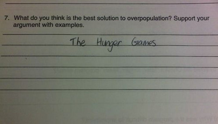 25 Funny Test Answers From Funny Kids - You did not support your argument! tsk tsk :)