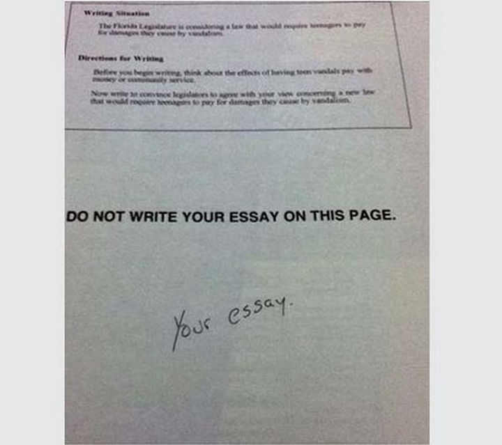 25 Funny Test Answers From Funny Kids - Breaking all the rules.