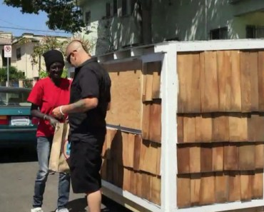 Elvis Summers Builds Tiny Home for Grateful Homeless Woman.