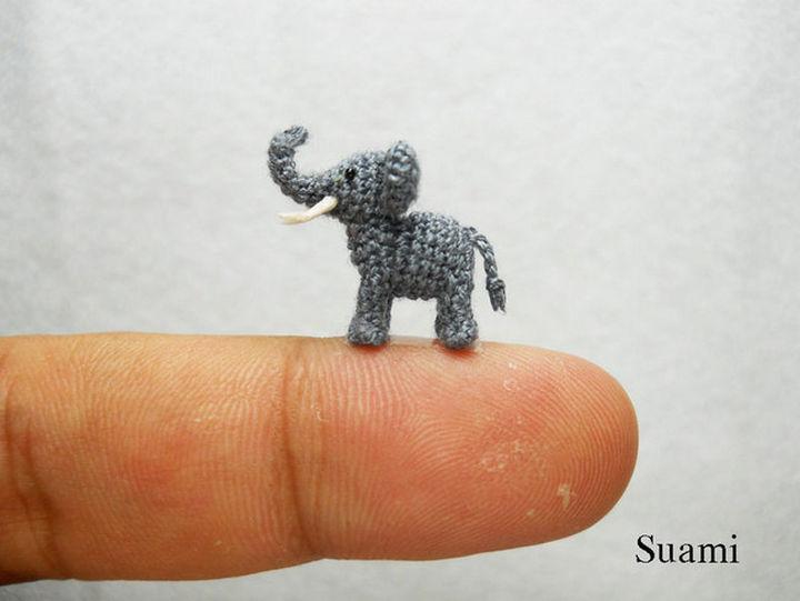 Cute stuffed crochet elephant.