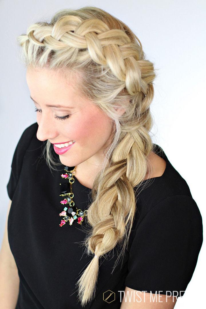 17 Disney Princess Hairstyles - A gorgeous braid inspired by Princess Elsa.