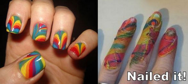 18 Pinterest Beauty Fails - Nail art that is anything but.