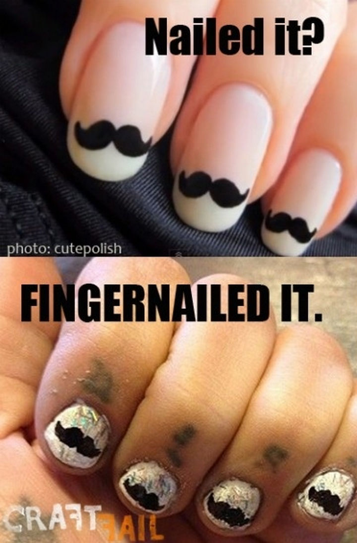 18 Pinterest Beauty Fails - These will look great...if you keep your hands in your pockets.
