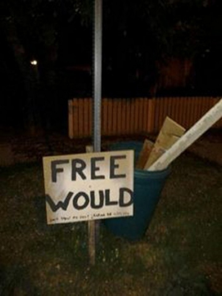 "21 Funny Spelling Mistakes - ""Free would."""