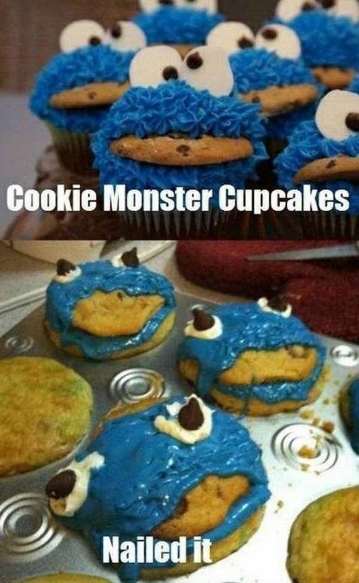 26 Pinterest Fails - I think even Cookie Monster would pass.