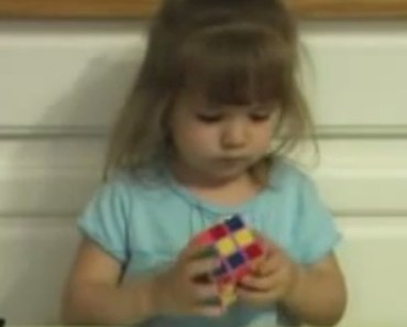 3-Year-Old Girl Solves a Rubik's Cube in Under 3 Minutes.