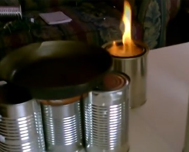 He Created a DIY Camping Stove With a Can and Toilet Paper.