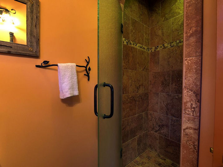 And there is also a large ornate shower to feel fresh for your outdoor excursions.