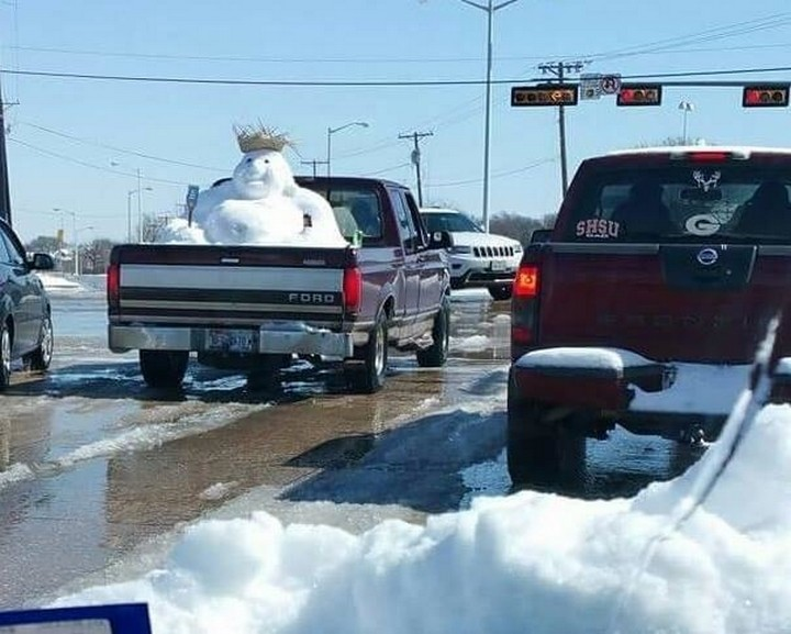 31 Funny Truck Signs - Way better than using sandbags in winter! Weigh the truck down with snow!