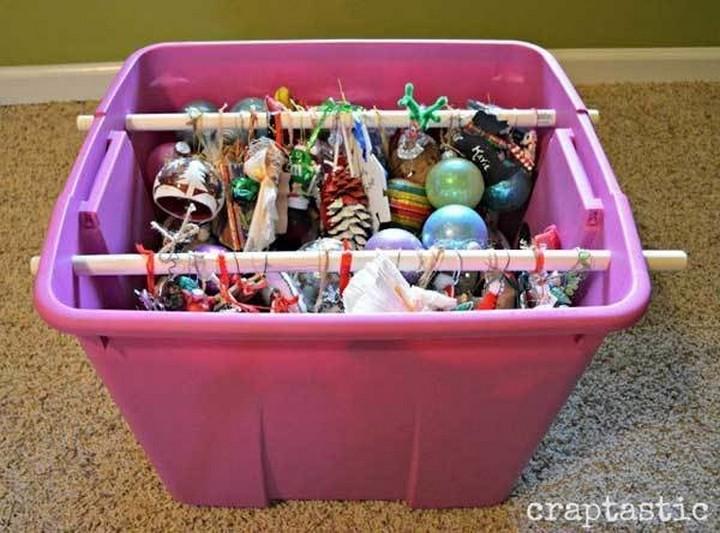 46 Useful Storage Ideas - Organize all your Christmas ornaments.