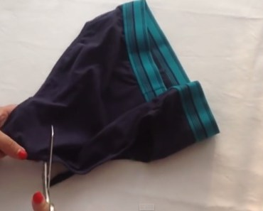 How to Make a Sports Bra by Upcycling Mens Underwear.
