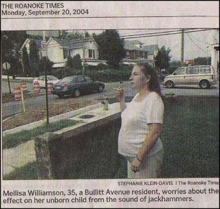 34 Parenting Fails - I think the sound of jackhammers is the last thing she needs to worry about.