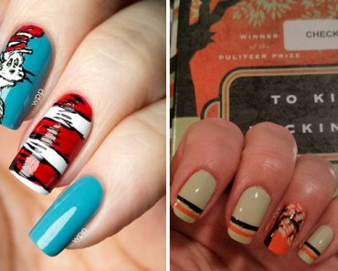 13 Incredible Nail Art Designs Inspired by Popular Books.