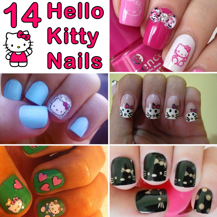 14 O Kitty Nails And Nail Art That Are Simply Too Adorable