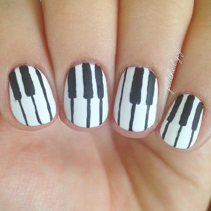 18 Music Nails - Piano keys for the piano lover in you.