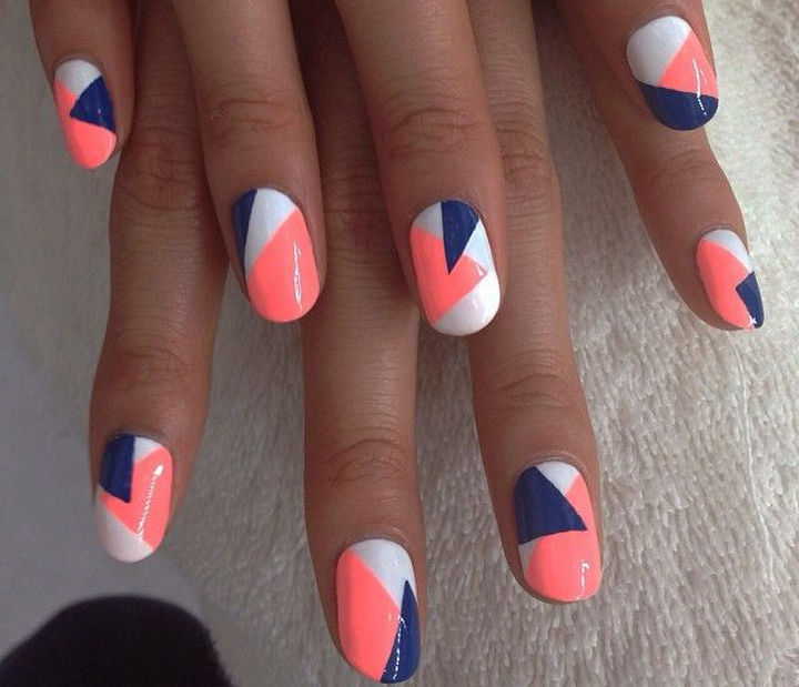18 Striped DIY Nail Designs - Fun Spring nail art.