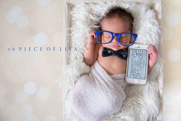 37 Newborns Wearing Geek Baby Clothes - Sweet baby gadget geek.
