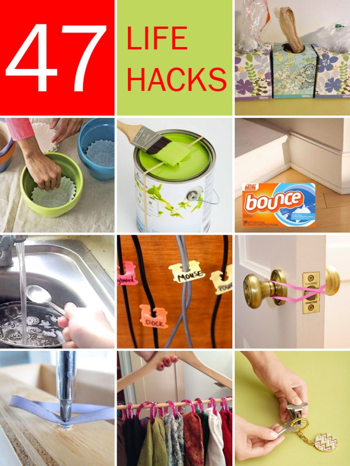 47 Amazing Life Hacks Using Only Common Household Items.