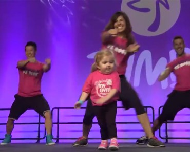 6-Year-Old Audrey Dethery at Zumba International Convention.