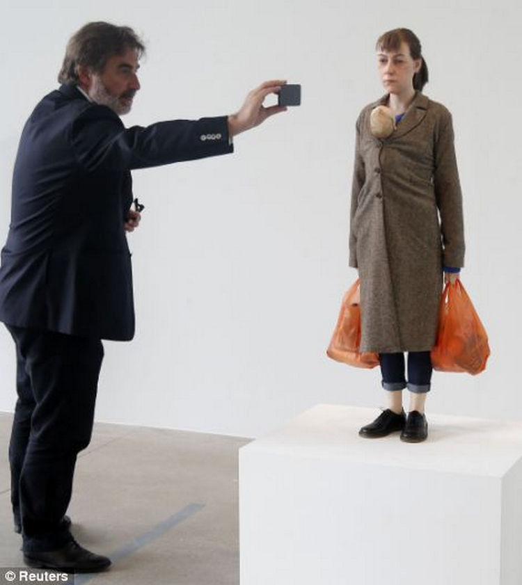 Ron Mueck rarely gives interviews because the art speaks for itself.