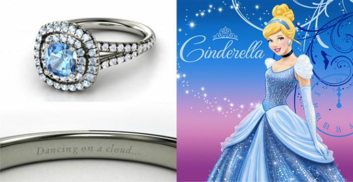 Cinderella - 22 Disney Princess Engagement Rings.
