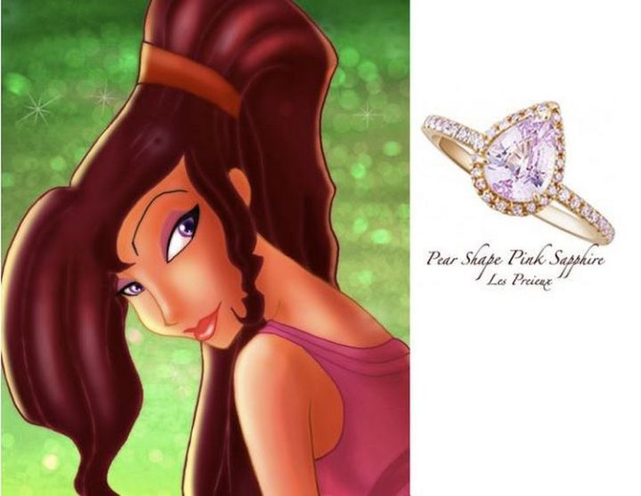 Megara - 22 Disney Princess Engagement Rings.