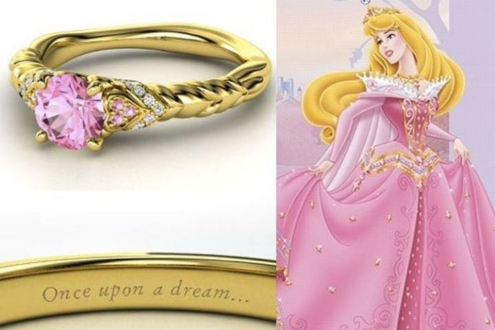 Aurora - 22 Disney Princess Engagement Rings.