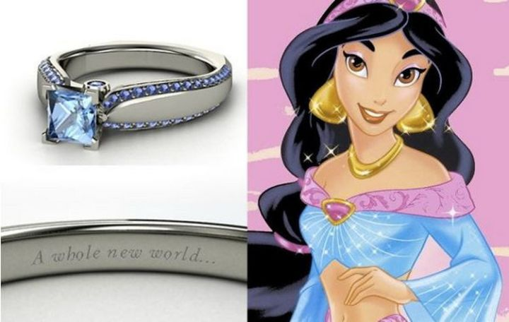 Jasmine - 22 Disney Princess Engagement Rings.