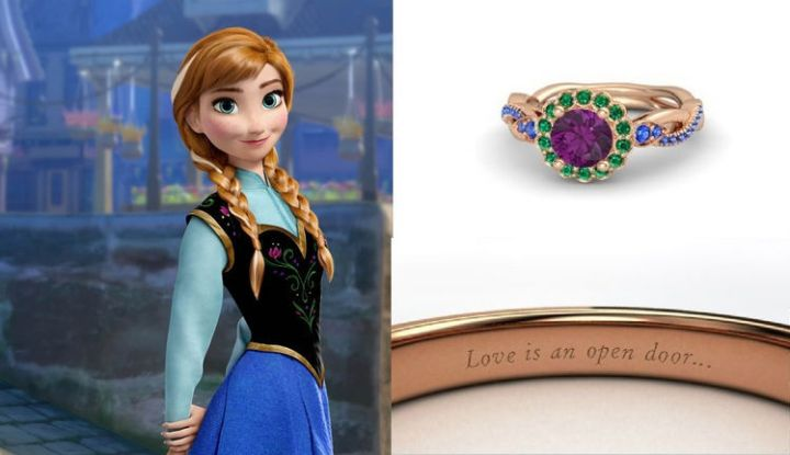 Anna - 22 Disney-Inspired Engagement Rings.