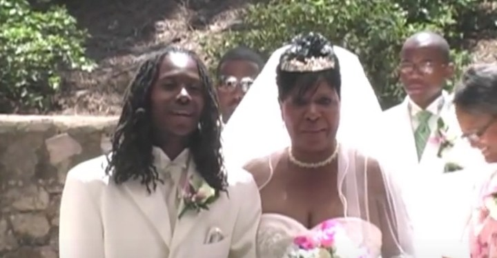 Son Sings to His Mom While Walking Her Down the Aisle.