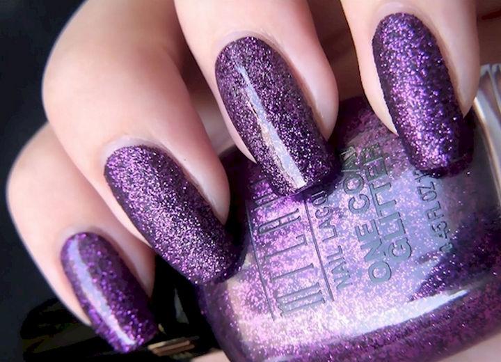 18 Purple Nail Art Designs - Purple glitter makes everything nice.