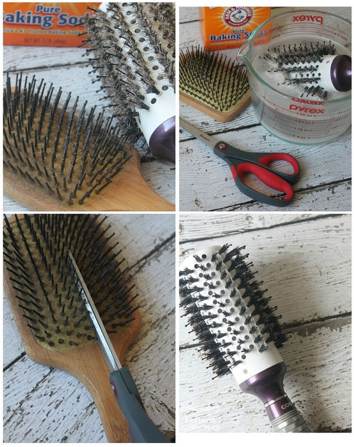 35 House Cleaning Tips - Cleaning hair brushes.